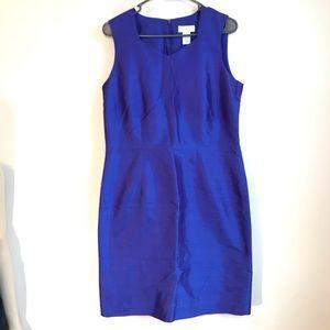 Worthington Size 10 Blue Sleeveless Sheath Dress